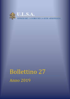 Bollettino N. 27 - 2019 NEW!!